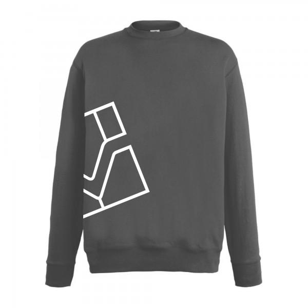 Sweater Rundhals, dunkelgrau