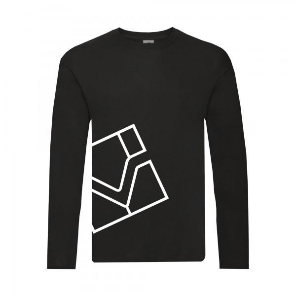 Langarm-Shirts, schwarz