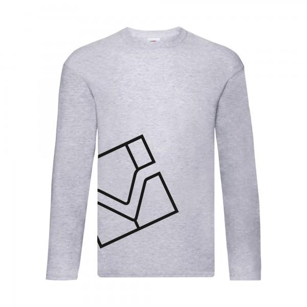 Langarm-Shirts, grau